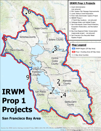 IRWM Prop 1 Project Map